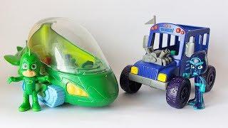 Pj Masks Super Pigiamini: Unboxing della Gecomobile Deluxe e del Bus del Ninja della Notte