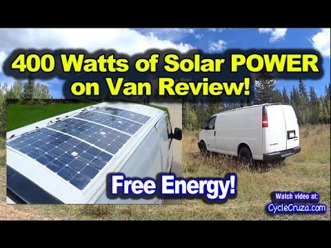 400 Watt Solar System Camper Van Review - Thin Solar Panels on Roof