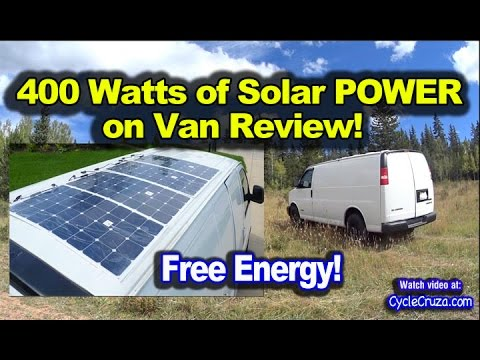 400 Watt Solar System Camper Van Review Thin Solar