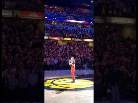 National Anthem Indiana Pacers vrs Atlanta Hawks 11/29/19