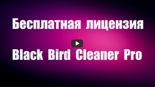 Бесплатная лицензия Black Bird Cleaner Pro. Оптимизация Windows