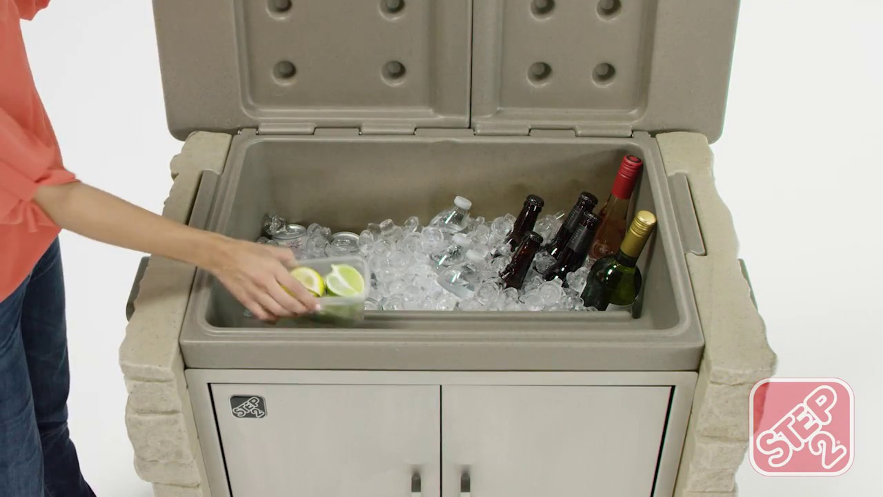 Home By Step2: StoneFront Patio Collection Cooler U0026 Storage™