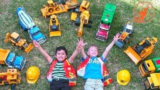 Bruder Toy Trucks for Children - Backhoe Excavators, Dump Trucks, Garbage Trucks &amp Fire Engine
