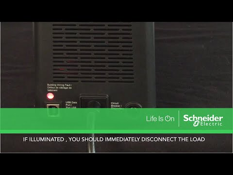 Understanding the Building Wiring Fault LED on APC UPS & Surge Products |  Schneider Electric Support