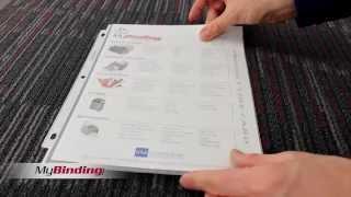 WLJ 21401 21403  Wilson Jones Super Heavy Duty Sheet Protector Non Glare Demo