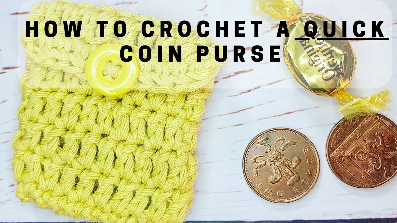 Crochet Coin Purse Earphone Purse Yellow Green