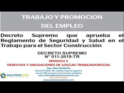 DS N° 011 2019 TR-MODULO 2-REGLAMENTO SST PARA EL SECTOR CONTRUCCIÓN