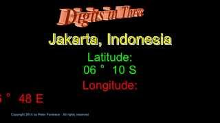 Jakarta Indonesia - Latitude and Longitude - Digits in Three