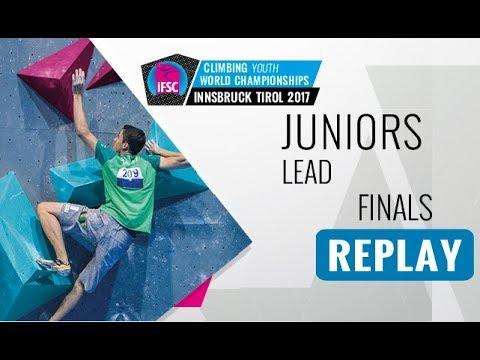 IFSC Youth World Championships Innsbruck 2017 - Lead - Male & Female Juniors Finals