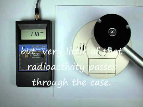 Radioactive Smoke Detector Americium 241 Youtube