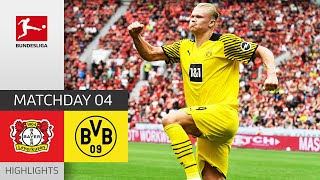 Bayer 04 Leverkusen - Borussia Dortmund 3-4 | Highlights | Matchday 4 – Bundesli