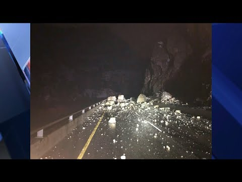 Large rock slide closes I-70 in both directions through Glenwood Canyon