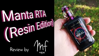 Advken Manta Resin RTA | Review & Full Rebuild | Great Flavour | Seepy Bottom!