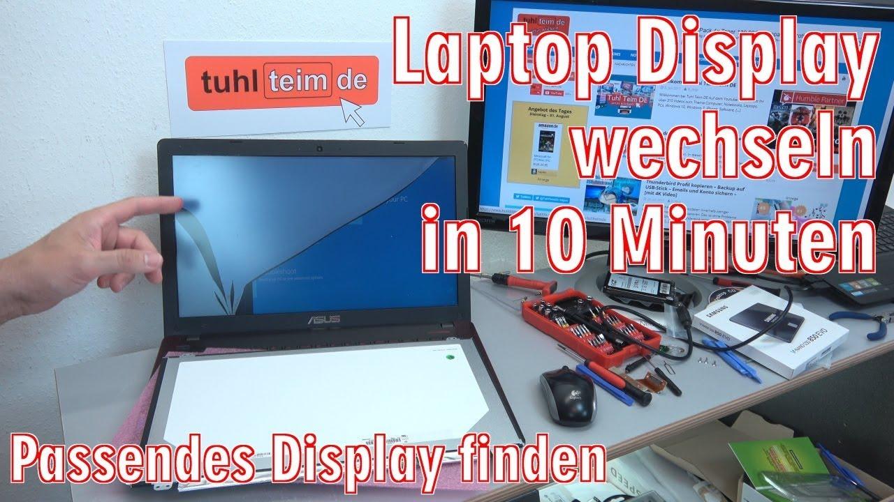 laptop display wechseln in 10 minuten notebook. Black Bedroom Furniture Sets. Home Design Ideas