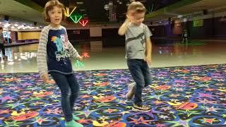 Dance moves at the skating rink