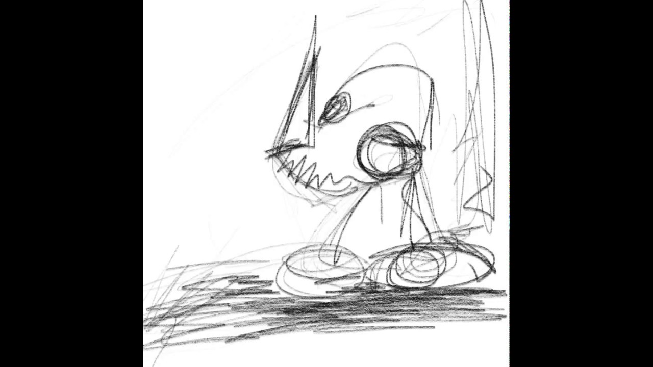 Line Drawing Monster : Messy drawing monster procreate feb youtube