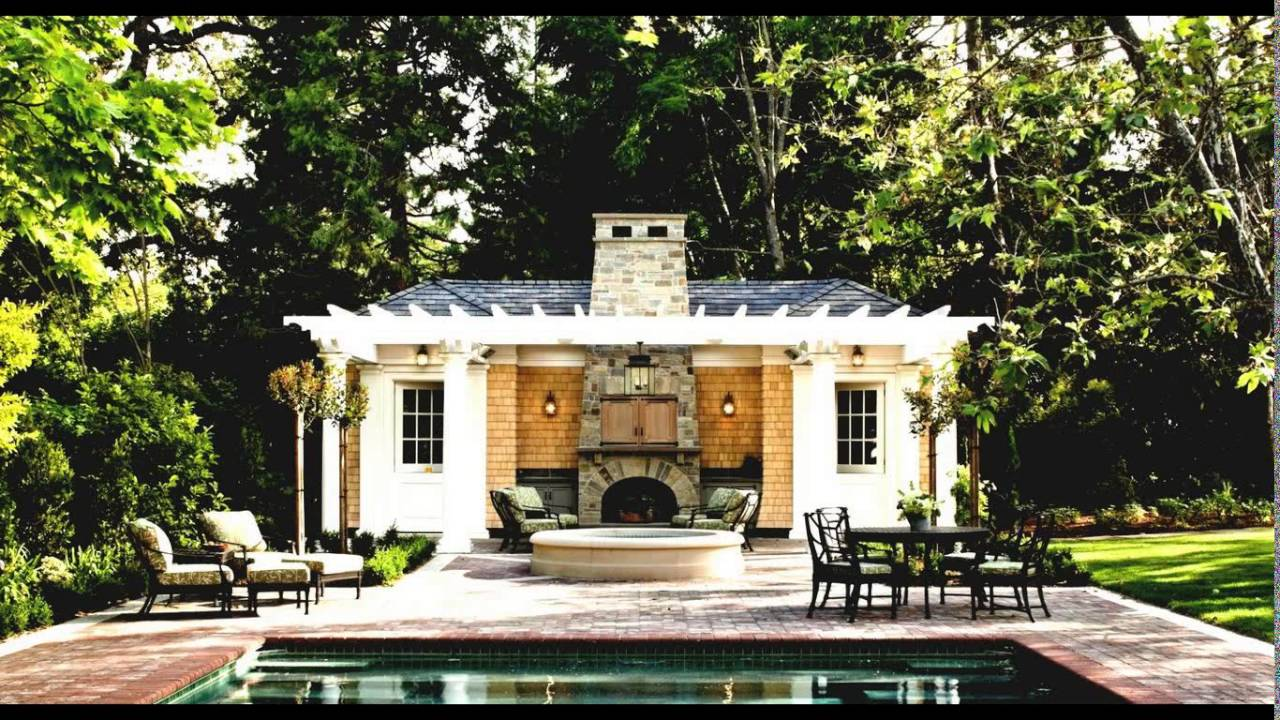 Pool house outdoor kitchen designs youtube for Pool house designs with outdoor kitchen