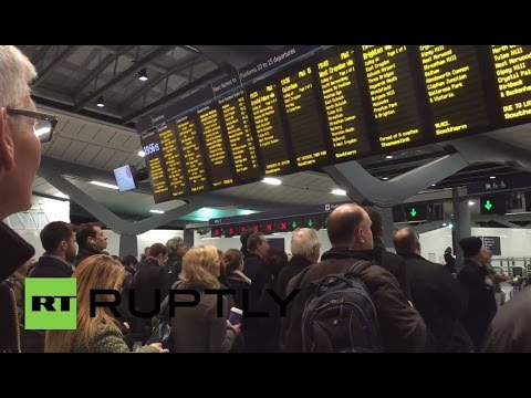 UK: See chaos grip central London amid major travel disruptions