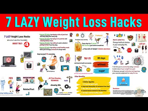 7 LAZY Weight Loss Hacks With Little To No Effort That WORKS (MUST TRY)