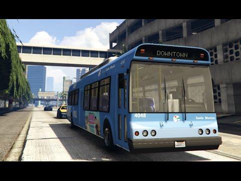 GTA V Mods | Showcases | Los Angeles Metro Pack 4.5 - Big Blue Bus