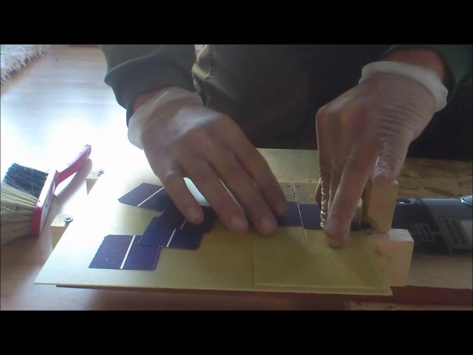 Beliebt Solarmodul selber bauen Teil1 Solar zelle schneiden PHOTOVOLTAIK OS73