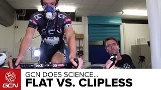 What Is The Most Efficient Pedalling Style? We Test Flat Vs. Clipless Pedals | GCN Does Science