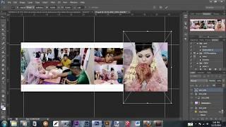TUTORIAL/Cara simple editing album kolase wedding (speedediting) dengan adobe photoshop