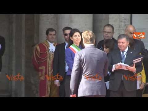 Trattati di Roma, Virginia Raggi con Angela Merkel e Tsipras