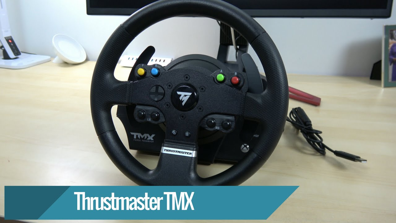 thrustmaster tmx force feedback racing wheel review youtube. Black Bedroom Furniture Sets. Home Design Ideas