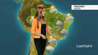 Previsão Brasil - ZCAS ainda atua no SE, CO e NO
