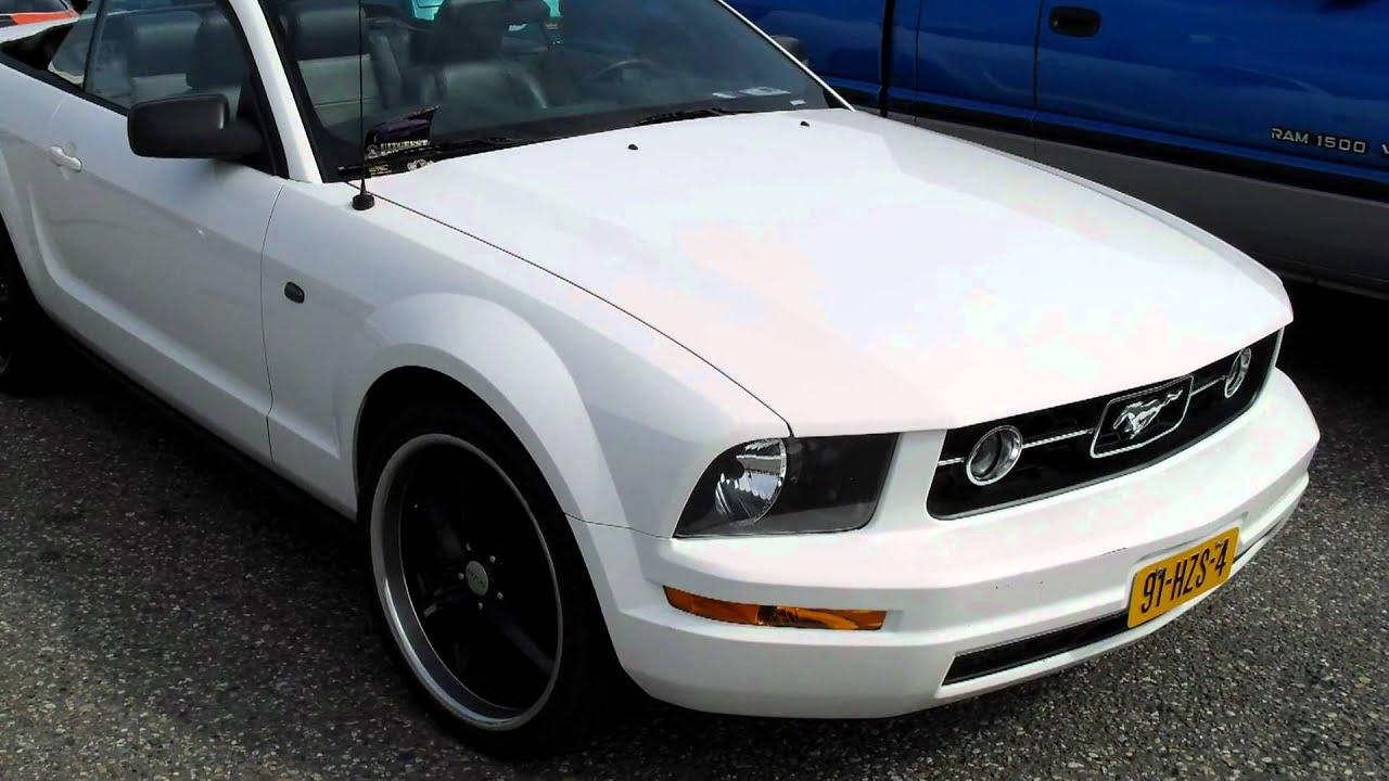 "White"" Ford Mustang on ""Black Rims"""