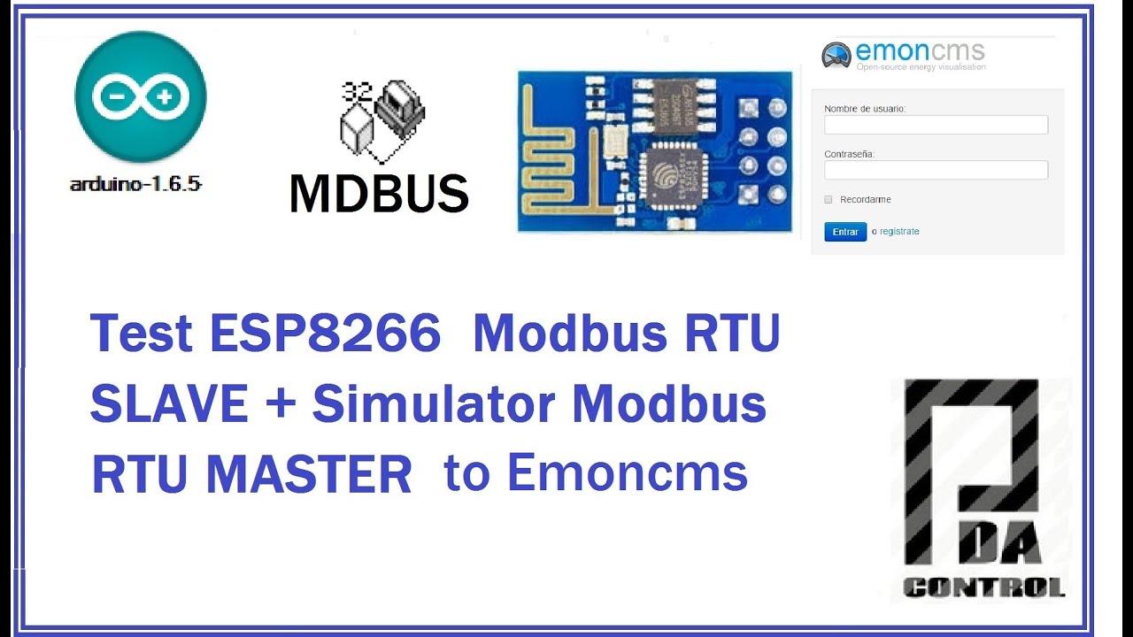 Read Value Modbus Master Rtu + Esp8266 Modbus Slave To Emoncms :  Pdacontrol  Pdacontrol 06:45 HD