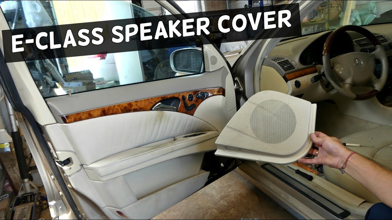 Mercedes w211 door speaker cover removal replacement youtube for Mercedes benz upholstery repair