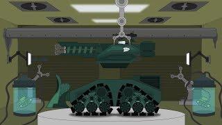"""Ремонт и модернизация КВ-2. Создание монстра КВ-2 """"Судный День"""" - Мультики про танки"""