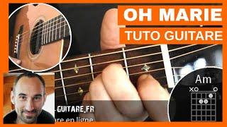 "Johnny Hallyday ""Marie"" Tuto Guitare"