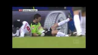 Paolo Guerreros brutales Foul an Sven Ulreich  /Rote Karte 03.03.2012