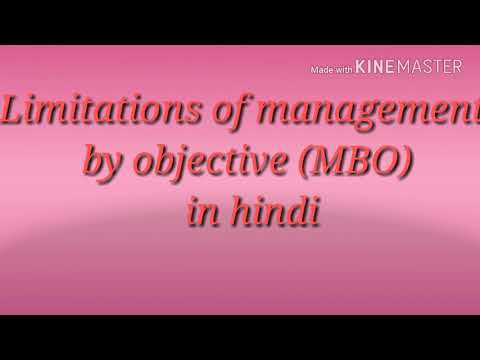 Limitations Of  MBO(management By Objective ) In Hindi