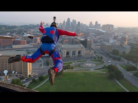 Base Jumper at Liberty Memorial