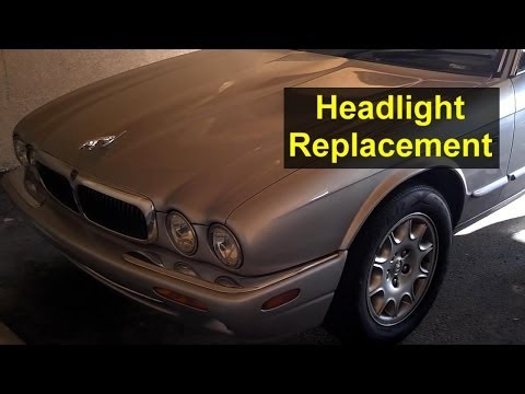 Jaguar headlight replacement, single units, inner and outer – Auto Repair Series