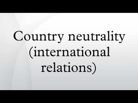Country neutrality (international relations)