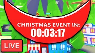 🎄 Adopt Me Christmas Update Event  Adopt Me New Update Countdown  Roblox Live Adopt Me Update