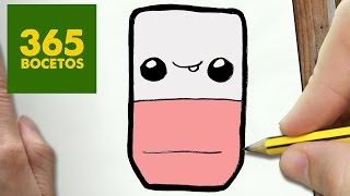 COMO DIBUJAR GOMA KAWAII PASO A PASO - Dibujos kawaii faciles - How to draw a ERASER