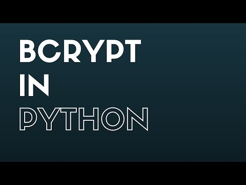 Using Bcrypt (Blowfish) In Python