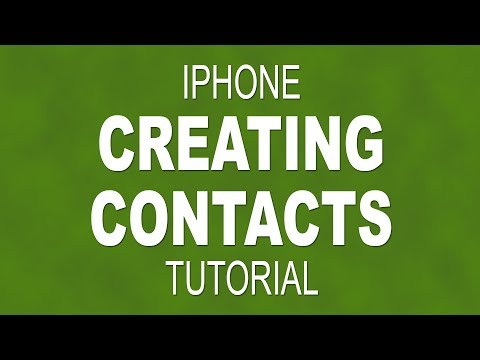 How to create a new contact on an iPhone