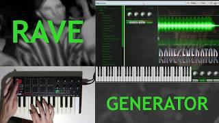 RAVE GENERATOR 2 Free VST for 90s Rave Music (Preset Demo)