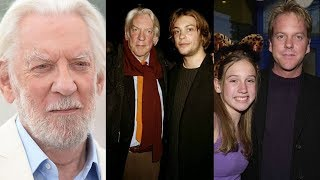 Actor Donald Sutherland Family Photos With Wife, Ex Wife, Son, Daughter, Grand Children