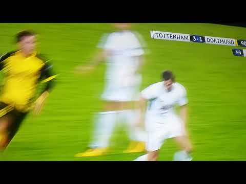 Jan Verthongen Red Card | Tottenham Hotspur vs Borussia Dortmund 3-1 UCL 2017/18 13.9.2017