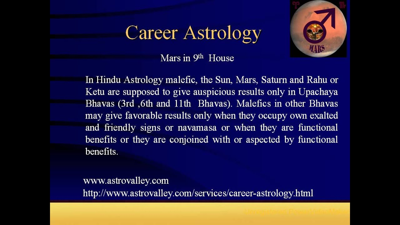 Career astrology: Mars in 9th House