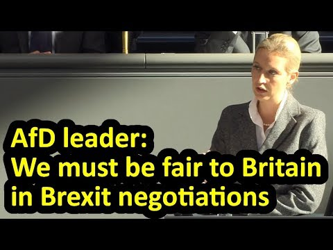 Speech on Brexit by AfD leader Alice Weidel in German parliament (Bundestag), English subtitles