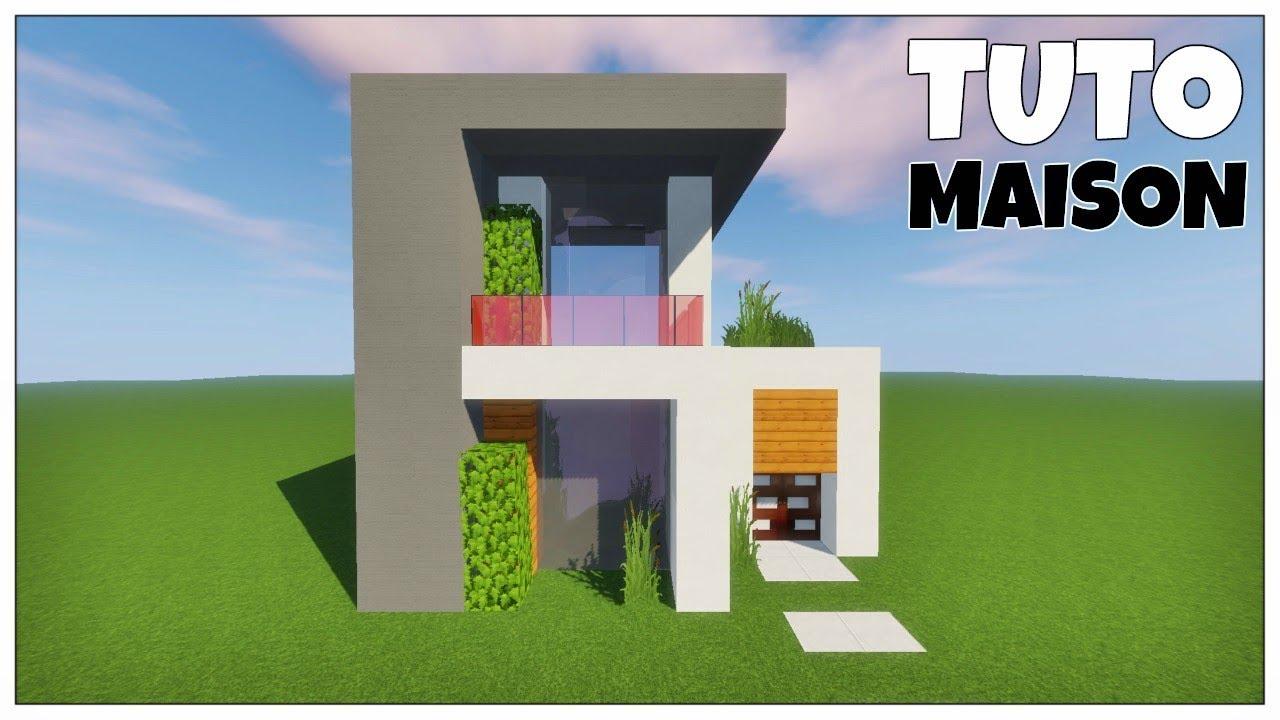 MINECRAFT TUTO - MAISON MODERNE FACILE À CONSTRUIRE - YouTube